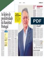 As Lições de Produtividade da Randstad Portugal - Artigo Jornal de Notícias Agosto 14, 2012