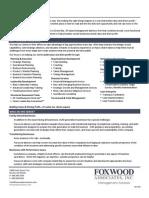 Foxwood Associates Brochure