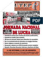 Jornada Nacional de Lucha 30-10-2014
