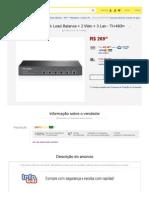 Roteador Tp-link Load Balance + 2 Wan + 3 Lan - Tl-r480t+ - R$ 269,39 no MercadoLivre.pdf