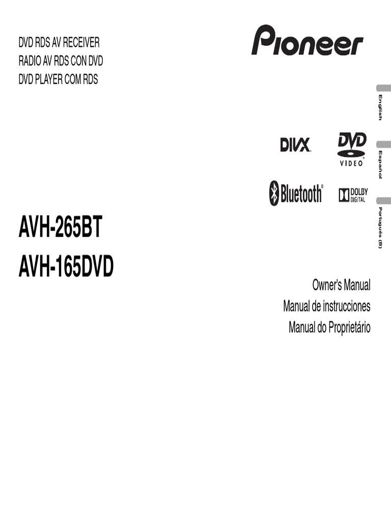 Avh 265bt avh 165dvd operating manual eng por esppdf fandeluxe Choice Image