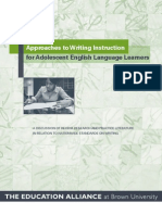 Approaches to Writing Instruction for Adolescent English Language Learners