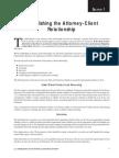Section 1 Establishing Attorney Client Rel