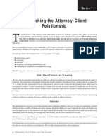 Section 1 Establishing Attorney Client Rel