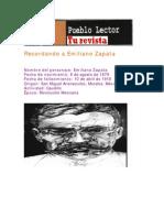 Recordando a Emiliano Zapata