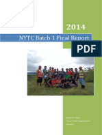 NYTC 2014 Batch 1 Final Report