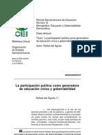 Aguila Rafael La participacion politica como generadora de educiacion civica y gobernalidad.pdf