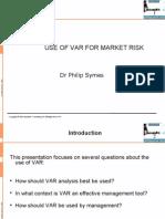 Market Risk and Var