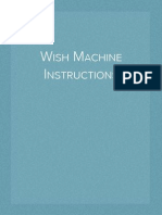 Wish Machine Instructions