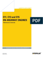 C11, C13 and C15 on-highway Engines-Maintenance Intervals