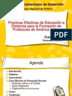 Practicas Efectivas de Educación a Distancia para la Formación de Profesores de América Latina.ppt