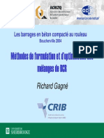 Barrages Formulation / Granulats