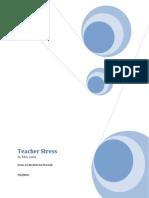 teacher stress research paper 1
