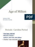 The Age of Milton Presentation