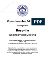 Notice for Point Loma community meeting hosted by Councilmember Ed Harris