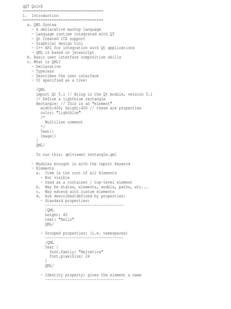 QML tutorial   Programming Paradigms   Software Development