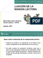 EVALUACIÓN DE LA COMPRENCIÓN LECTORA