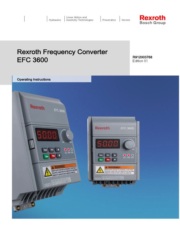 Bosch Rexroth Efc3600 Manualpdf Power Supply Safety Meanwell Sp 320 15 Schematic Smps Circuits Electronic Projects