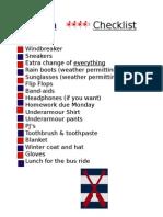 regatta checklist