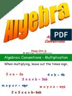 02 Algebraic Conventionss