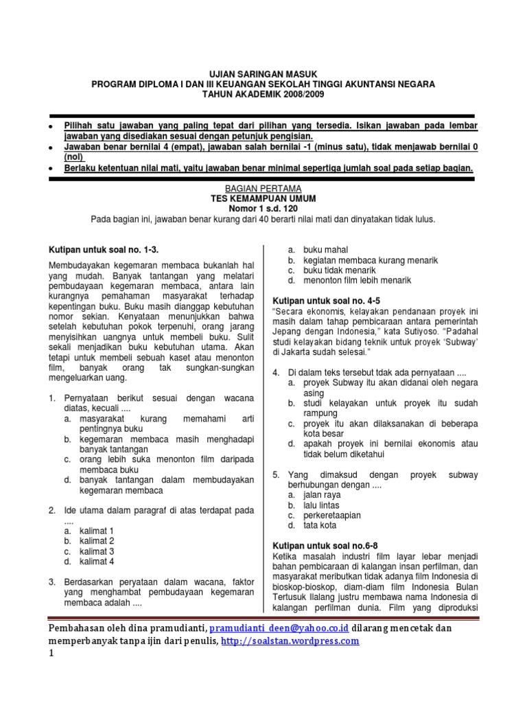 Soal Pembahasan USM STAN(2) 79877aba61