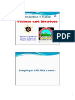 02 Matlab Vecters and Matrices