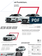 Audi A6 and A7 S line selection Brochure (DE)