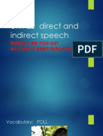 unit 22  direct and indirect speech