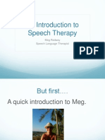 What is speech therapy