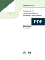 Proceedings of the Sixth East Asian Seas Partnership Council Meeting