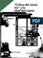 Rivera de Rosales, Jacinto C. - Kant. La Critica del Juicio teleologico y la corporalidad del sujetto UNED  1998.pdf
