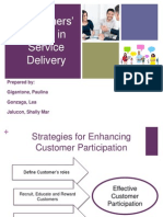 Customers' Role