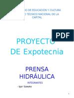 Prensa Hidráulica Trabajo Terminado.doc