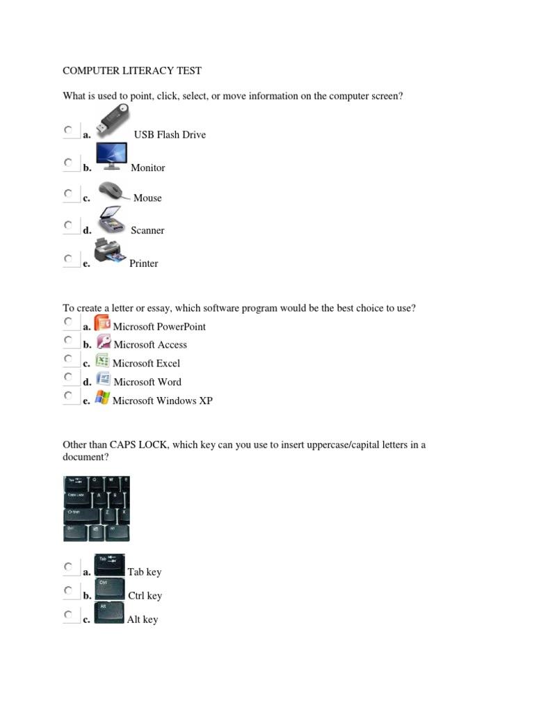computer literacy test