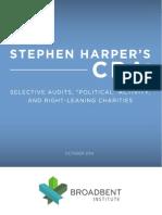 Stephen Harper VS non profits