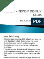 Prinsip - Prinsip Disiplin Kelas