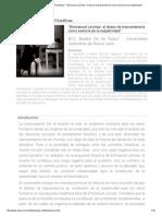Revista Observaciones Filosóficas - _Emmanuel Lévinas_ el deseo de trascendencia como esencia de la subjetividad_.pdf