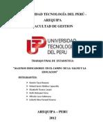 ALGUNOS INDICADORES  EN EL CAMPO  DE LA  SALUD Y LA EDUCACION.docx