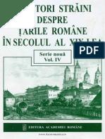Călători Străini Despre Ţările Române În Secolul Al XIX-lea. Serie Nouă. Volumul 4 (1841-1846)
