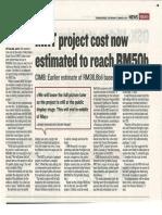 KL MRT Project Cost