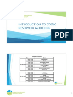 Introduction to Static Reservoir Modeling