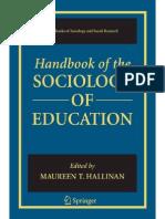 Maureen T. Hallinan Handbook of the Sociology of Education