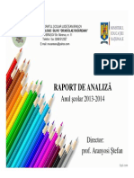 Raport de analiza 2013 2014