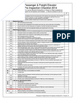 Passenger & Freight Elevator Pre-Inspection Checklist 2014 - Final
