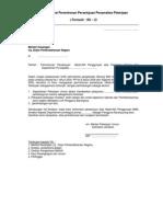 Surat Permohonan Persetujuan Penyerahan Pekerjaan