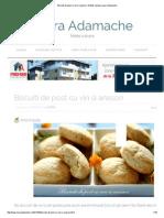 Biscuiti de Post Cu Vin Si Anason
