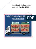 India's Import and Export Update for September and December 2014