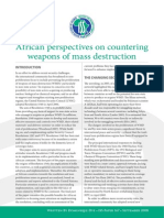 African Perspectives on countering weapons of mass destruction