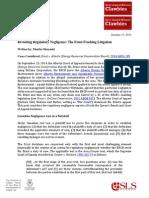 2014 10 15 ABlawg.ca Review by Martin Olszynski, Revisiting Regulatory Negligence, The Ernst Fracking Litigation