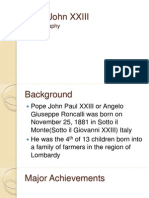 Autobiography on Pope John XXIII